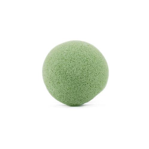 Eponge de Konjac au Thé Vert pour le visage