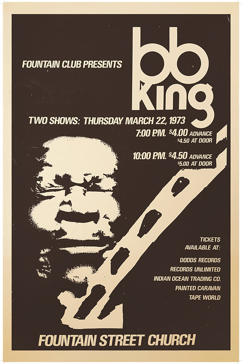 BB King Poster (limited reprint, 1 of 100)