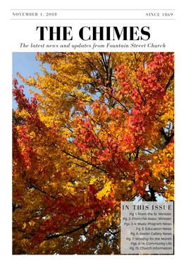 Nov 2018 Chimes Cover