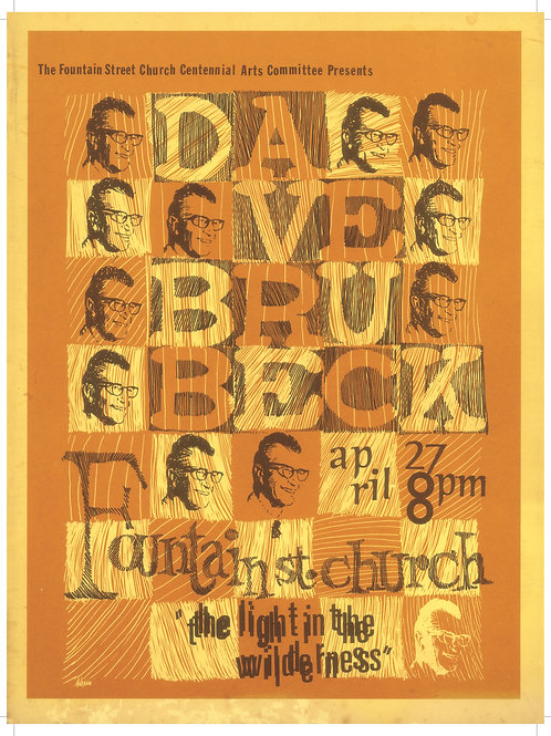 Dave Brubeck Poster (limited reprint, 1 of 100)
