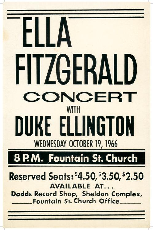 Ella Fitzgerald Poster (limited reprint, 1 of 100)