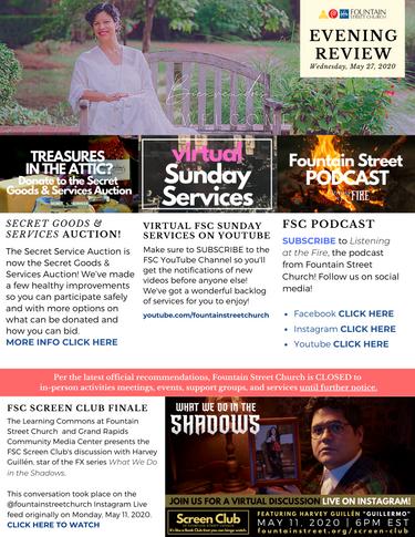 2020 Christmas Service Fountain Street Church FSC Evening Review Newsletter   fountainstchurch