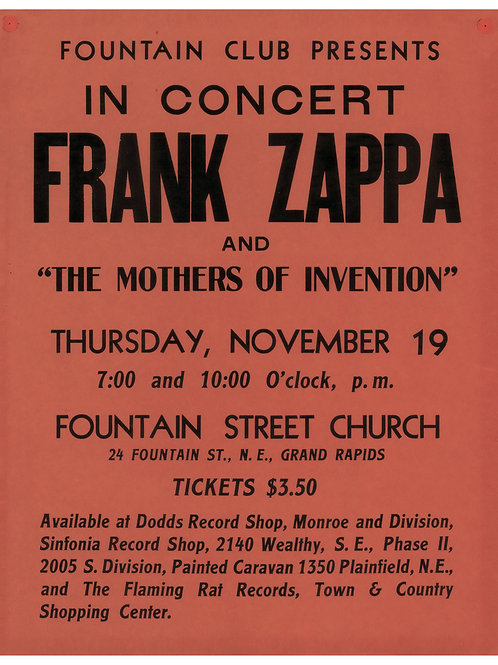 Frank Zappa Poster (limited reprint, 1 of 100)