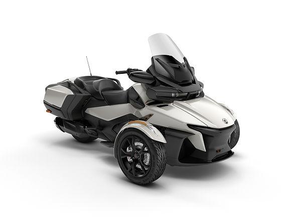 2020 Spyder RT Chalk Grey Metallic_3-4 f