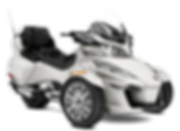 2018 Spyder RT Limited Chrome Pear White