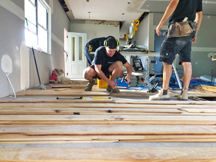 Manly Vale flooring being laid