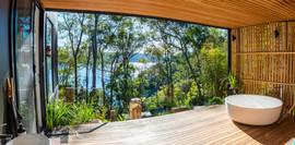 Avalon main bedroom balcony with bath