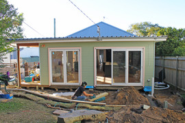 Manly Vale cladding completed & deck starting