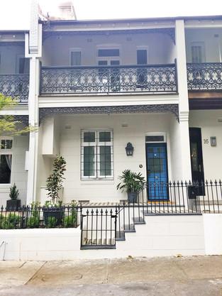 Paddington front facade finished