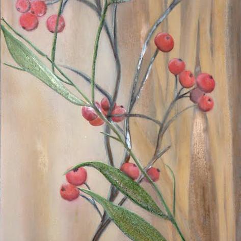 Pyracantha and Bamboo