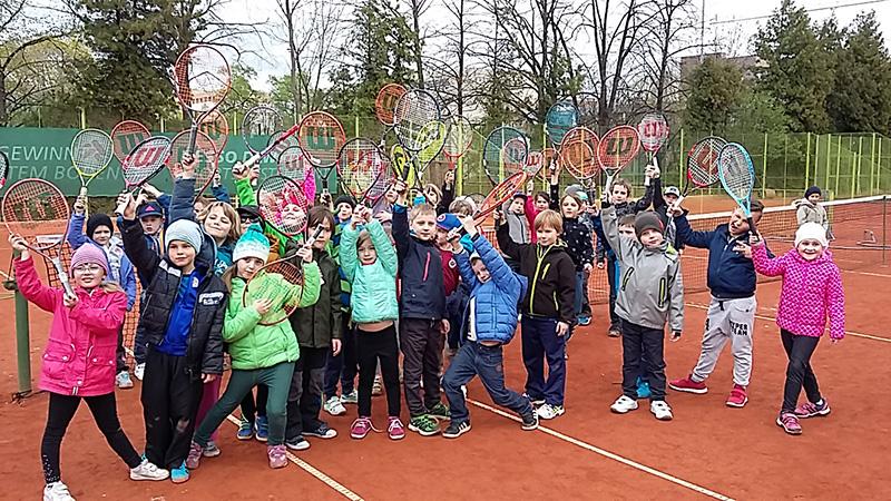 První lekce tenisu 6.4.2017