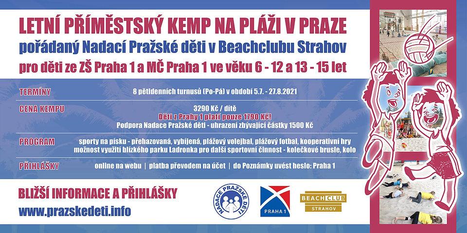 Příměstské kempy 2021   Beachclub Strahov