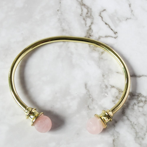 Rose Quartz Bangle