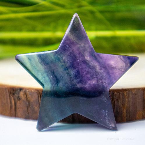 Rainbow Fluorite Star
