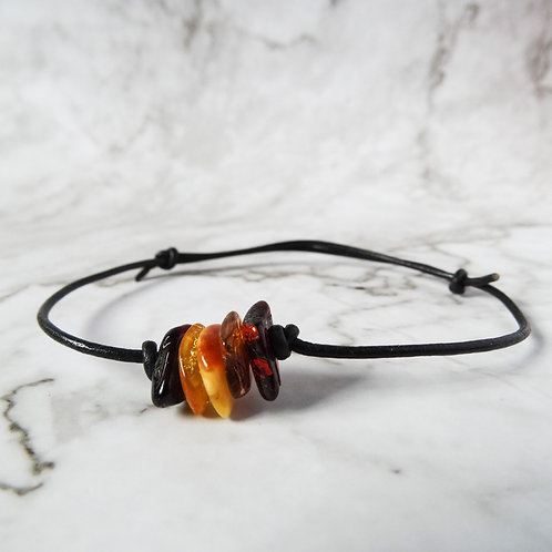 Amber Leather Bracelet