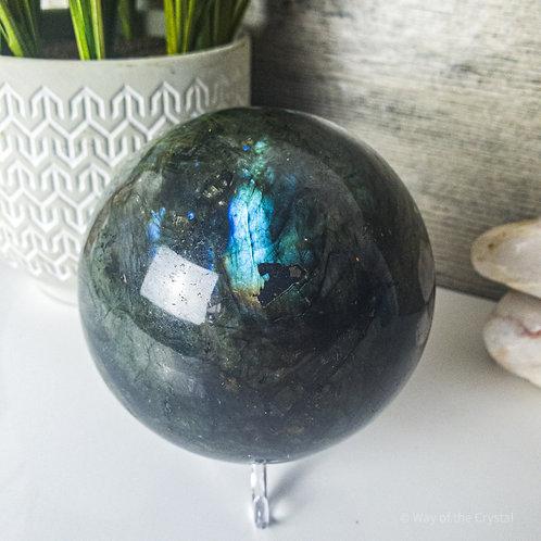 Large Labradorite Sphere (Madagascar)