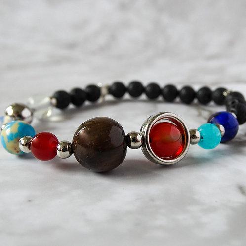 Lava Stone Solar System Bracelet