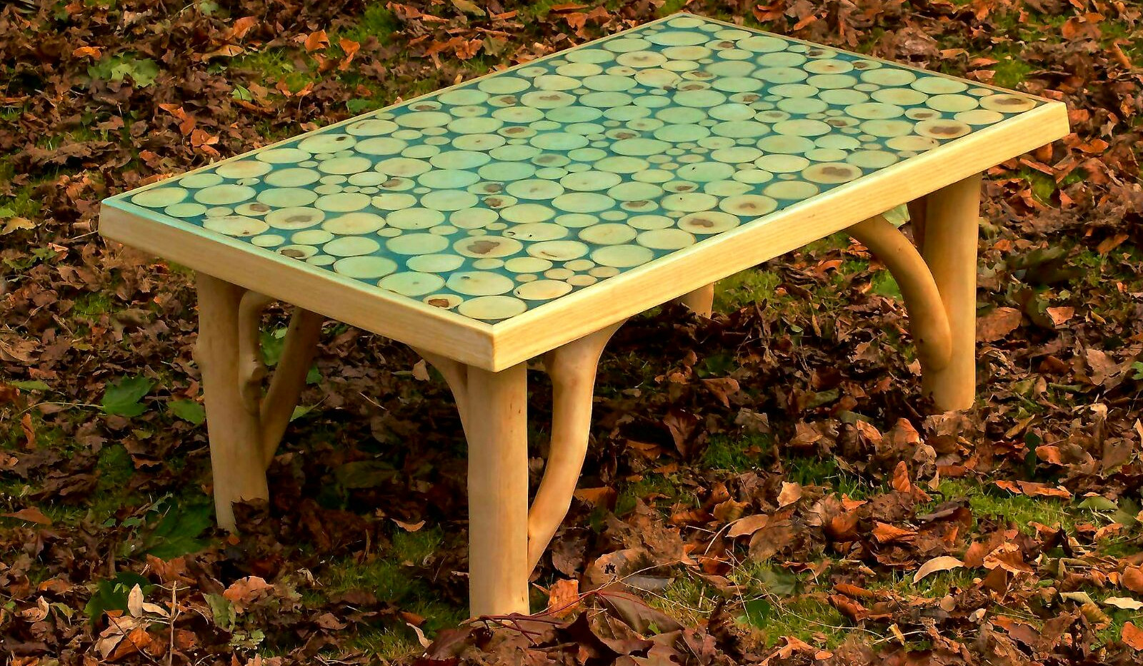 This was the first table we made together. Our friend Nicky has this. The legs were nicest on this one. I reckon at least 40 hours of sanding on this bad boy. Big learning curve.