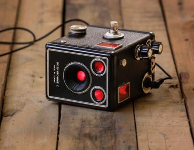 Hyperfocal in one of the fresher looking Kodak Brownie box cameras