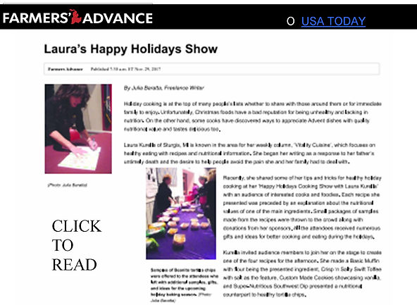 "Review of Kurella's 2017 ""Happy Holidays"" Cooking Show"