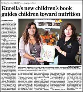 Laura Kurella donates her children's books to libraries