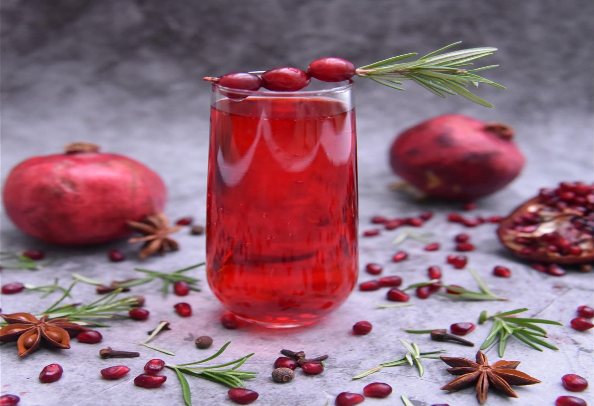 Cranberry-infused Kombucha