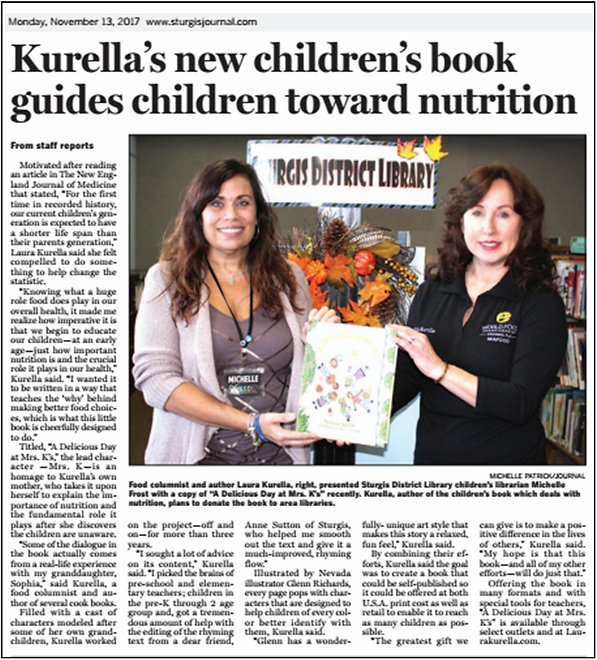 News article on Kurella's Book donation to Sturgis Library