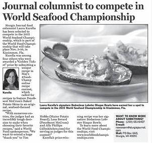 Kurella to compete in World Seafood Championship