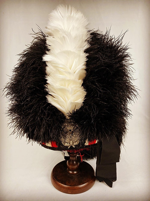 Argyll and Sutherland Highlanders Officers Ostrich Feather Bonnet