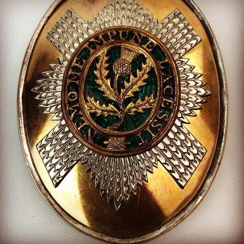 Georgian 3rd Guards Officers Shoulder Belt Plate