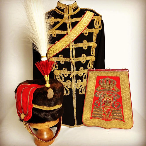 Transitional 8th Kings Royal Irish Hussars Officers Uniforms