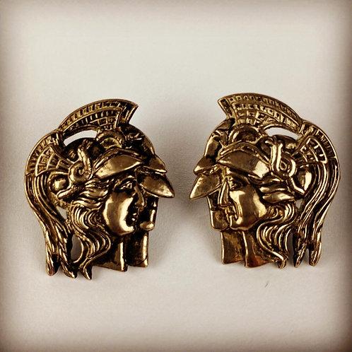 Victorian Artist Rifles Officers Silver Collar Badges