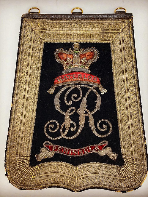 13th Light Dragoons Officers Sabretache - Worn at Waterloo