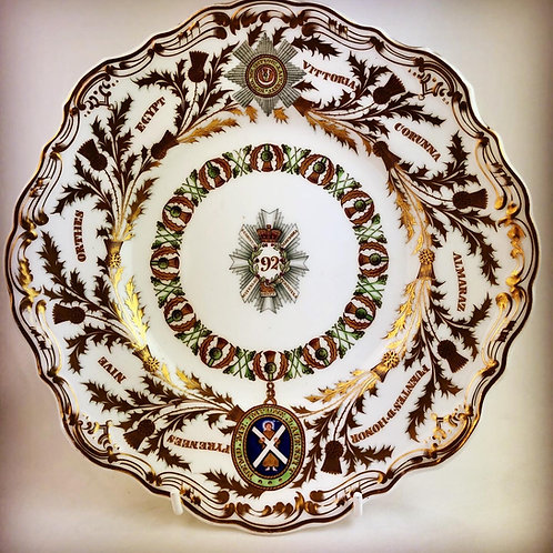 92nd (Gordon) Highlanders Regimental Officers Mess Plate