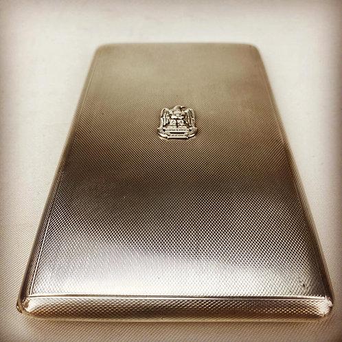 Royal Scots Greys Regimental Silver Cigarette Case