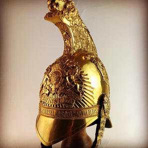 1834 Pattern 4th Royal Irish Dragoon Guards Officers Helmet