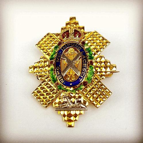 42nd Highlanders The Black Watch Sweetheart Brooch