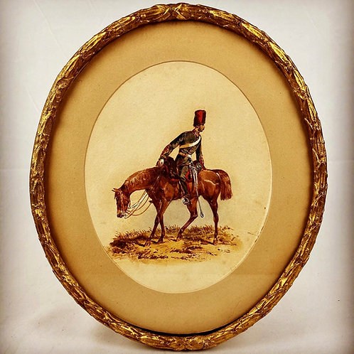 Orlando Norie Original Watercolour - Mounted Royal Artillery Officer