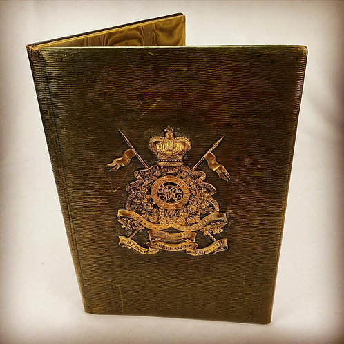 Victorian 16th Lancers Officers Morocco Leather Folio