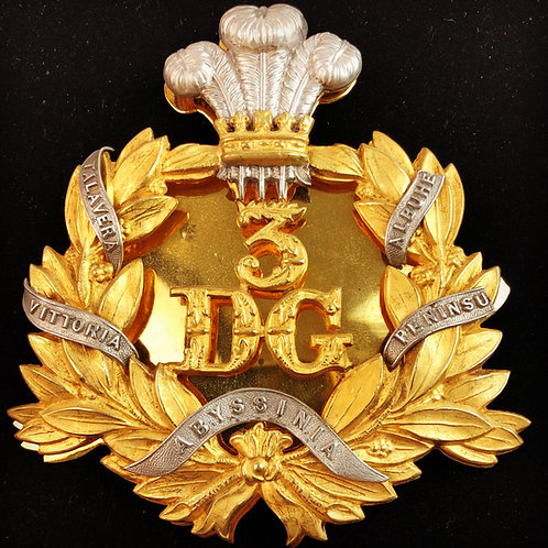 Victorian 3rd Dragoon Guards Officers Sabretache Device