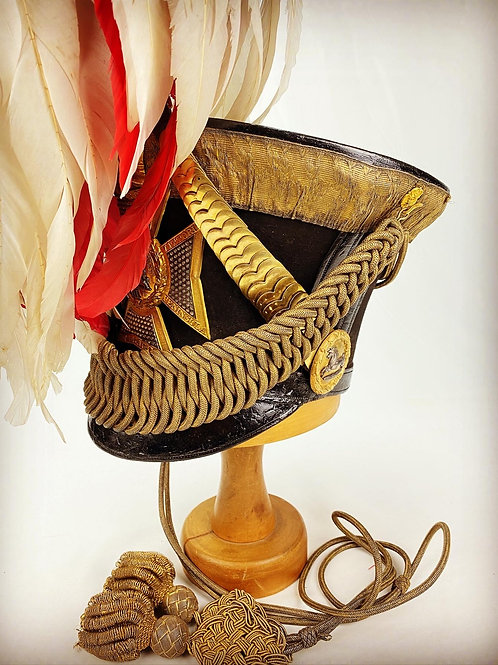 William IV Kings Own 3rd Lt Dragoons Officers Shako