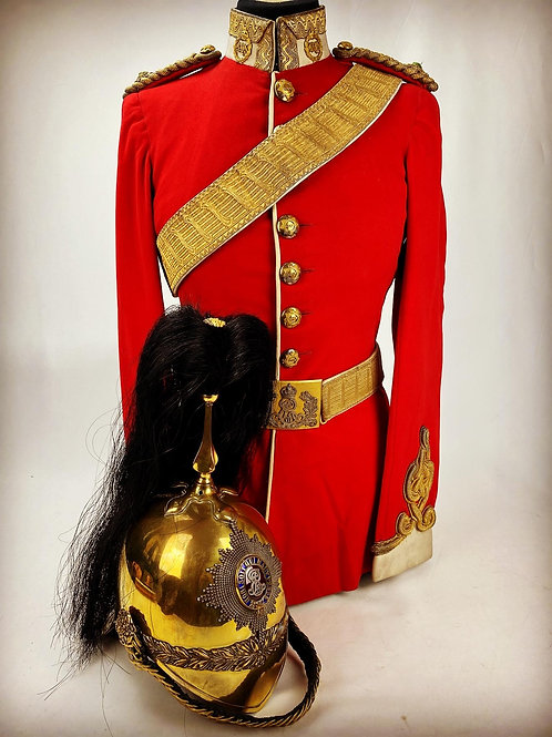 Edwardian 2nd Dragoon Guards The Queens Bays Officers Uniform