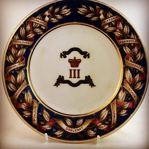 Victorian 3rd Kings Own Hussars Regimental Officers Mess Plate