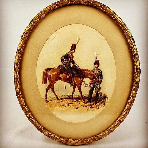 Orlando Norie Original Watercolour - Royal Horse Artillery