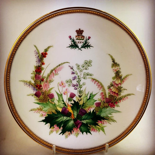 Victorian 75th (Stirlingshire) Regiment of Foot Regimental Mess Plates