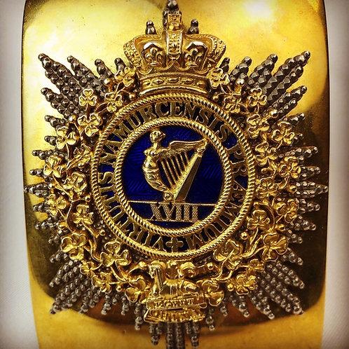Georgian 18th of Foot Officers Shoulder Belt Plate