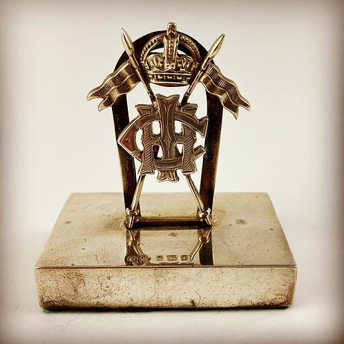 Central India Horse Officers Mess Silver Menu Holder