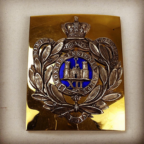 Victorian Officers Shoulder Belt Plate to the Suffolk Regiment