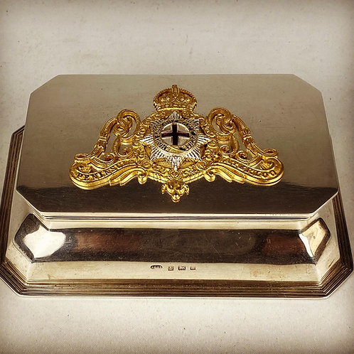 1st Life Guards Regimental Silver Inkwell - 1926