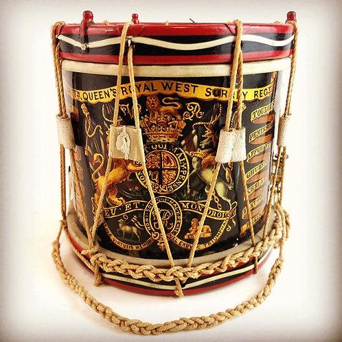 Miniature Regimental Drum - Queens Royal West Surrey Regiment